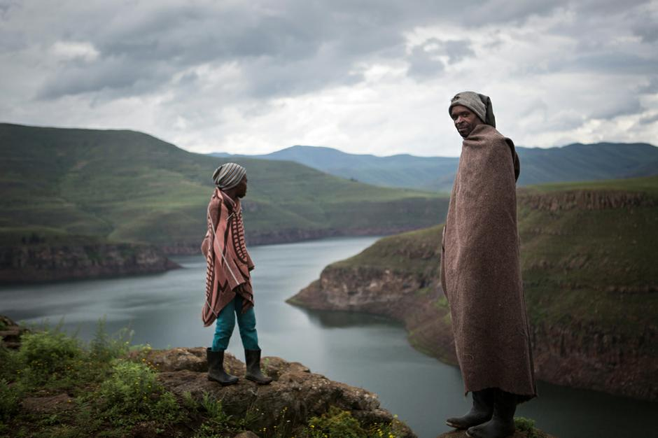 Photograph of people in Lesotho
