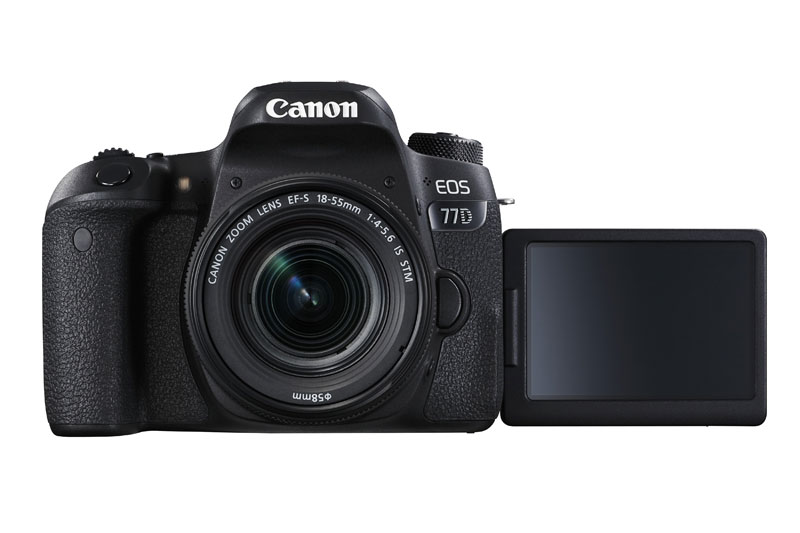 canon eos 77D DSLR with LCD out and kit lens