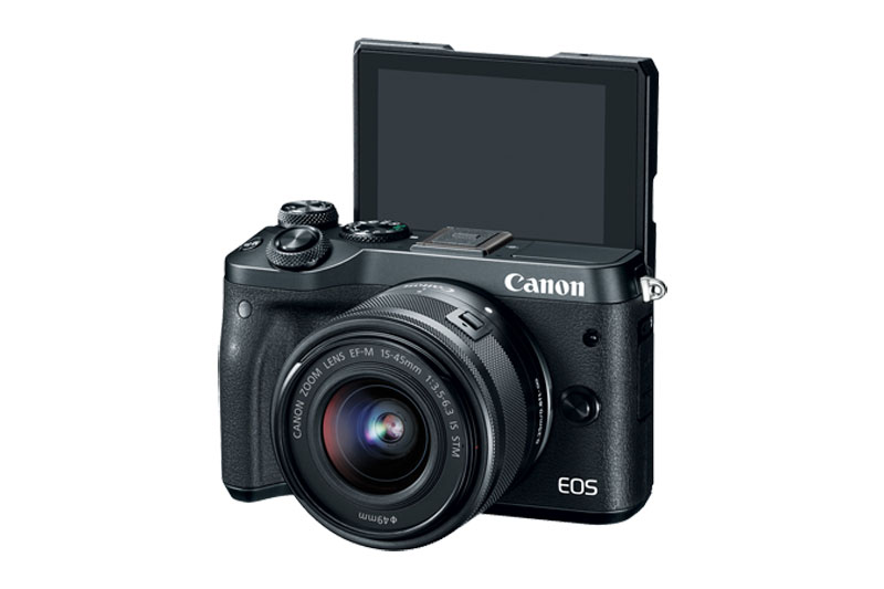 Canon EOS M6 Mirrorless LCD rotated